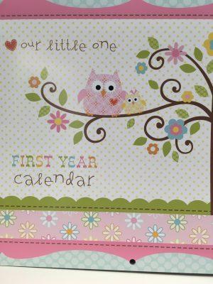 calendar pink owls