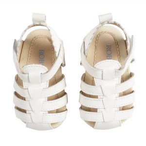 Robeez little kicks white sandal