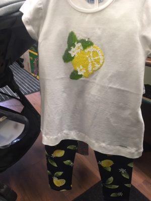 may 2pc lemon top and pant