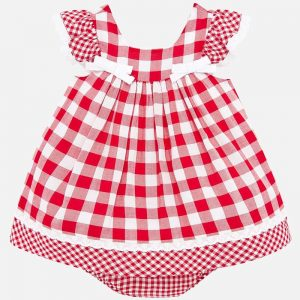 may dress Checked Red white